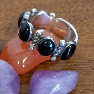 925 silver black onyx ring size 9.5